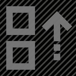 arrow, move, top, up icon