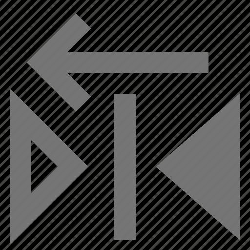 arrow, copy, left, reflect icon