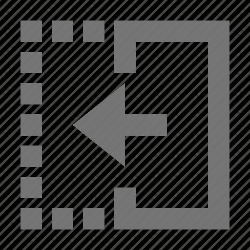 arrow, left, reflect icon