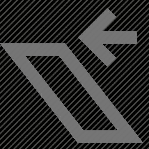arrow, left, shear icon