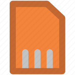 chip, chip card, gsm, micro sim, sd card, sim, sim card icon