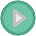 cinema, film, media, media button, media control, multimedia, play button icon