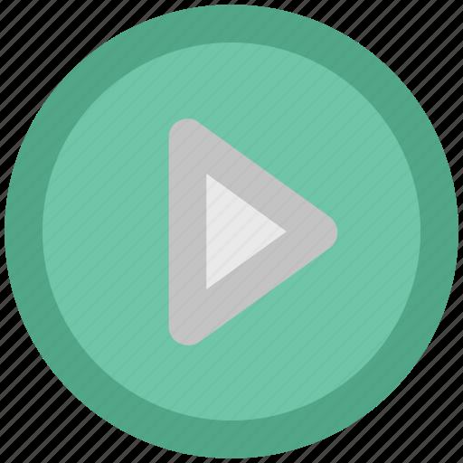 cinema, film, media, media button, media control, multimedia, play button icon