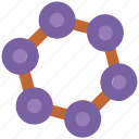 atom, biology, compound, molecular configuration, molecule, science icon