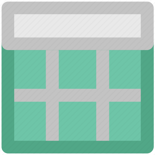 diagram, format, one row, page design, scheme, template, webpage layout icon