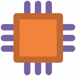 central processing unit, computer chip, integrated circuit, memory chip, microchip, microprocessor, processor chip icon