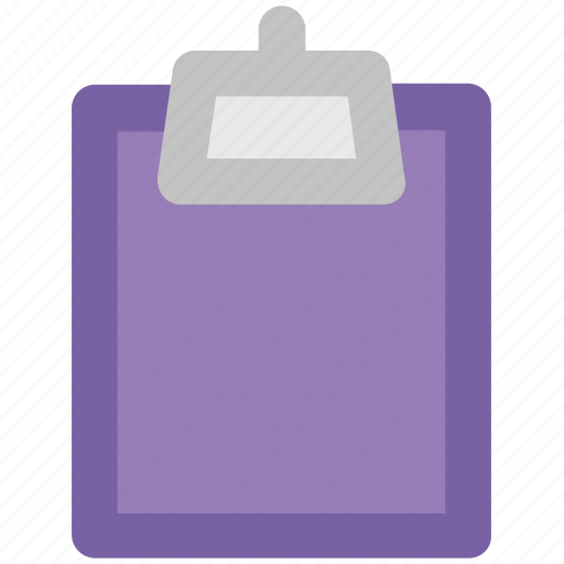 blank paper, clipboard, message, notepad, office supply, school supply, stationery icon