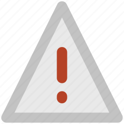 danger sign, exclamation mark, road sign, triangular, warning sign icon