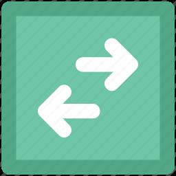 arrows, arrows exchange, horizontal arrows, interchange, opposite arrows, revert, swap icon