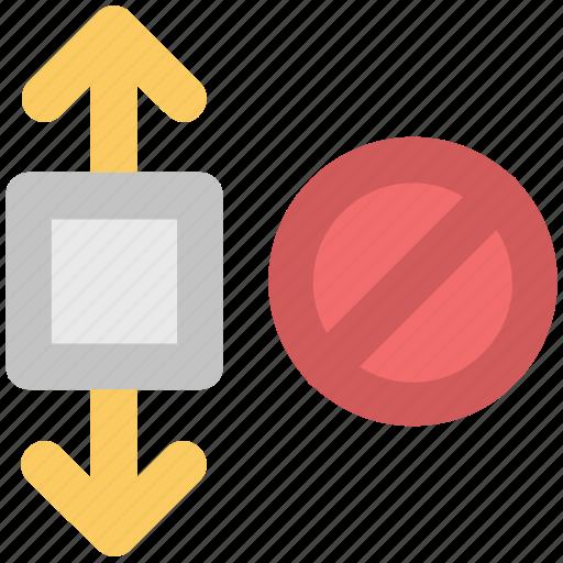 delete expand arrows, denei fullscreen, forbidden expand, full size, remove, remove expand icon