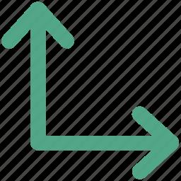 arrow, direction, gauge, hint, indicator, pointer icon