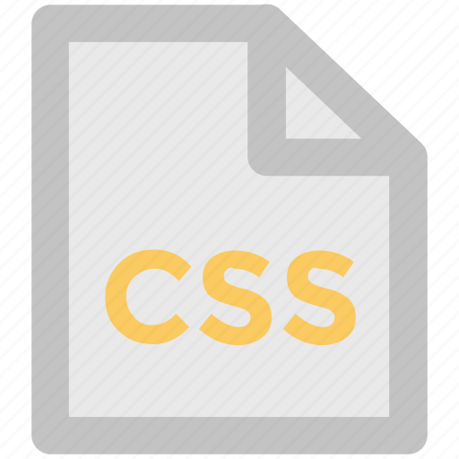 css file, document, file design, file extension, file format, storage, web apps icon