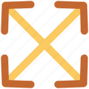 crisscross arrows, dragging, enlarge, expand, intersect, merge, spread icon