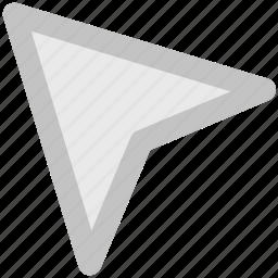 arrow, click, cursor, indicator, pointer icon