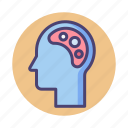 thinking, artistic, brain, artistic thinking, mindset icon
