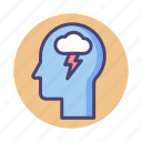 brainstorm, mindset icon