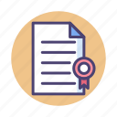 agreement, certificate, document icon