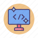 clean, code, coding, html, programming icon