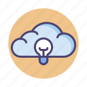 cloud, cloud architecture, cloud hosting icon