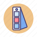 color, color palette, correction icon