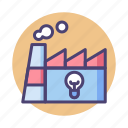 creative, creative factory, factory, manufacturer, production icon