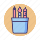 design, stationery, tools icon