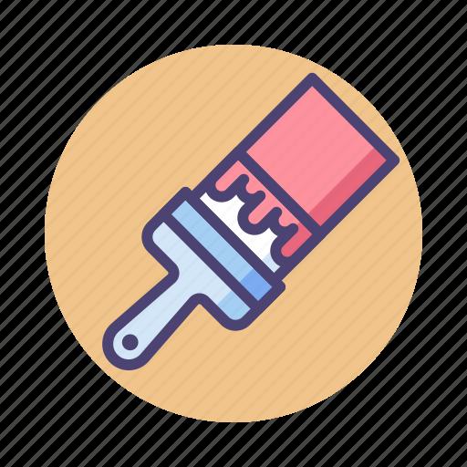 brush, paint, paintbrush icon