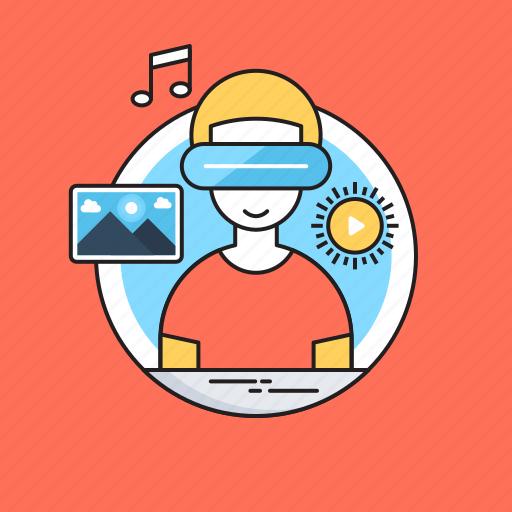 Creativity, landscape, media, music, note, smart glasses icon - Download on Iconfinder