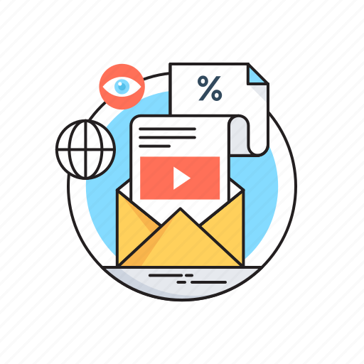 advertising, internet, marketing, seo, video marketing icon