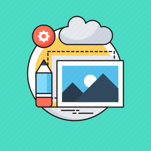 Content editor, designing, landscape, photo, seo icon - Download on Iconfinder