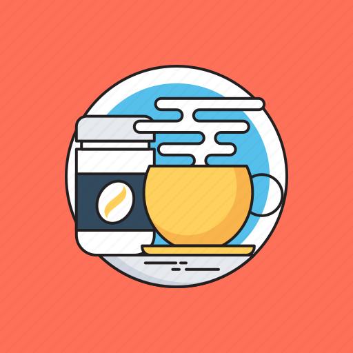 coffee mug, coffee shop, disposable cup, hot tea, tea mug icon