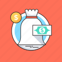 banknote, dollar, investment, money, money sack icon