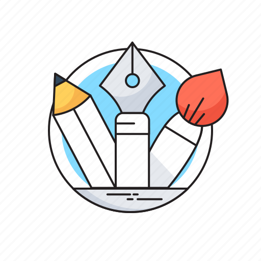 Creativity tools, design tools, paintbrush, pen, pencil icon - Download on Iconfinder