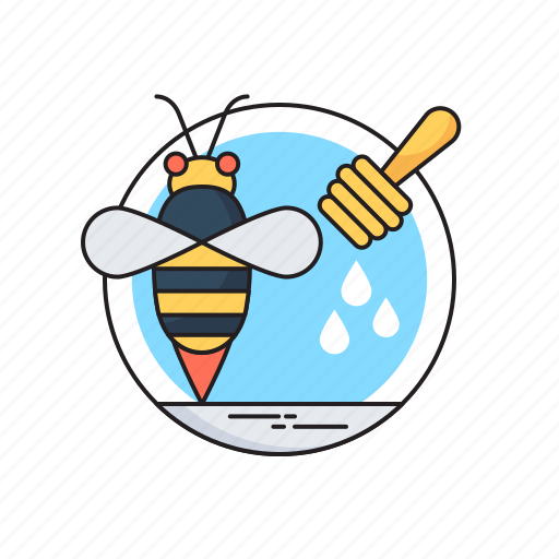 Food, honey, honey bee, honey dipper, organic icon - Download on Iconfinder
