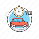 automobile, car, rent a car, renting, taxi icon