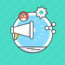 advertising, marketing, megaphone, seo, social campaign icon