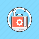 screwdriver, spanner, support, technical service, technical support icon