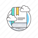 book, ebook, education, elearning, knowledge icon