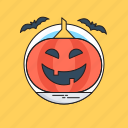 celebration, festival, happy halloween, pumpkin, spooky icon
