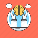 brain, brain exercise, brain training, brainstorming, hands icon