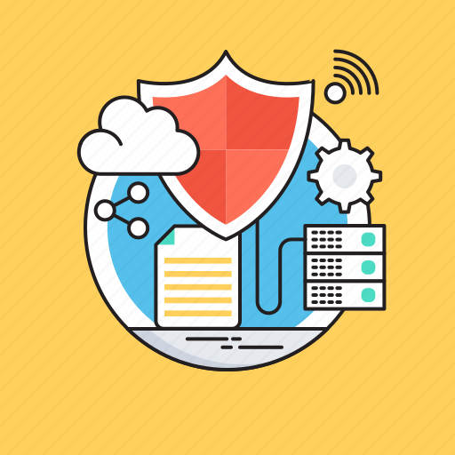 Cyberspace, data security, database, protection, shield icon - Download on Iconfinder