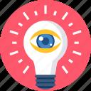 bulb, creation, creative, idea, search, view, vision icon