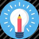 bulb, generate, idea, lightbulb