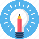 bulb, generate, idea, lightbulb icon