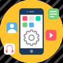 app, configuration, media, mobile, setting, settings, social