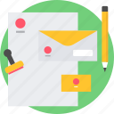 sheet, letter, envelope, blank, email, letterhead