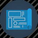 blueprint, creative, creativity, design, designer, framework, guide, model, paper, pilot, plan, prototype, roadmap, sketch, template icon