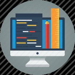 art, artist, code, coding, computer, creative, creativity, design, design tools, designer, designing, imac, pencil, ruler, tools, web, web design, web development icon