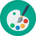art, artist, color, color palette, creative, creativity, design, design tool, designer, digital painting, painter, painting, palette icon