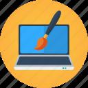 art, artist, brush, creative, creativity, design, designer, digital design, digital painting, drawing, laptop, macbook, web design icon